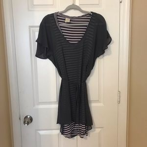 Ella Moss size M knit tank dress/sheer overlay